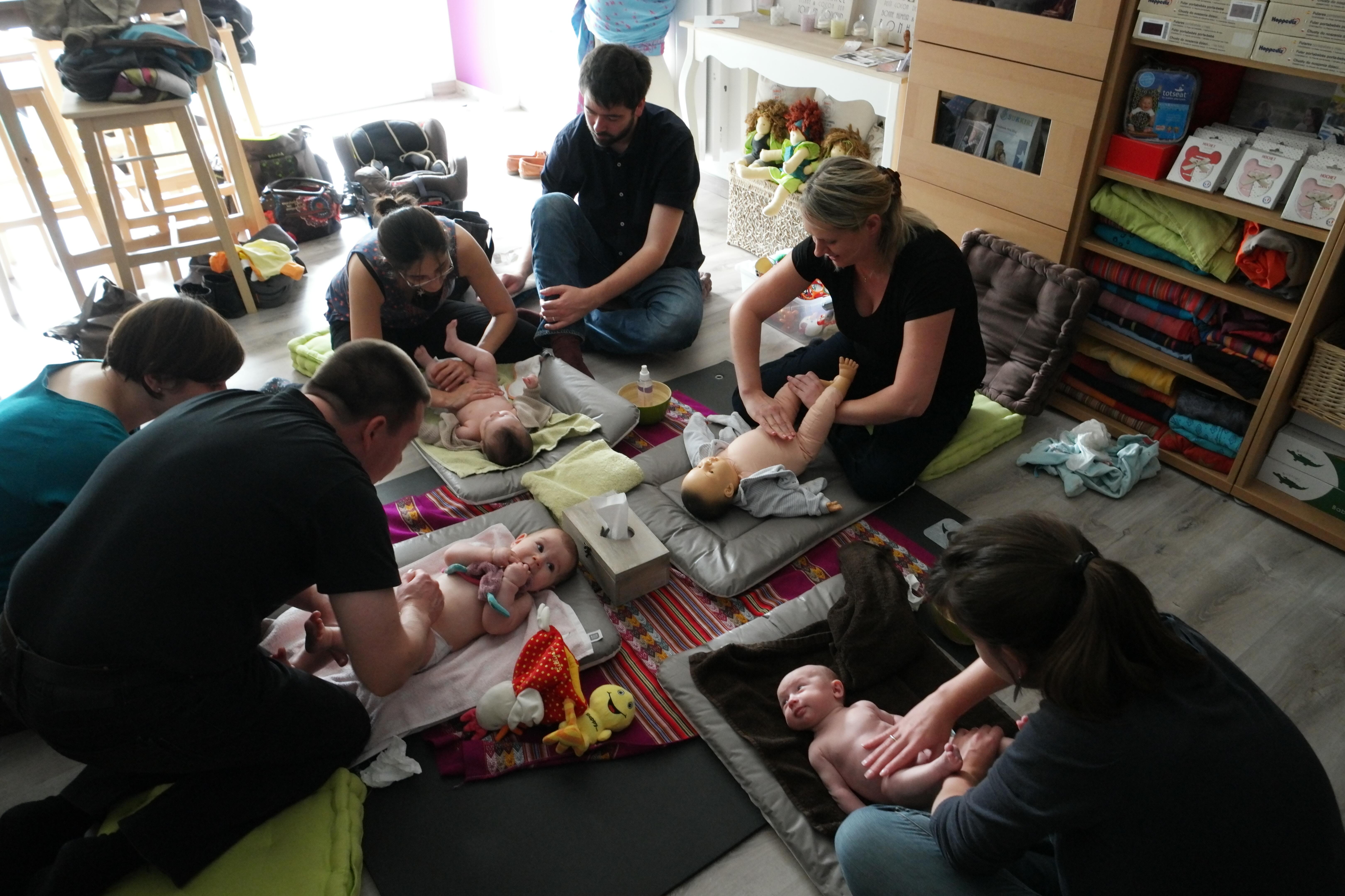 Atelier massage bébé, Nancy, Meurthe-et-Moselle
